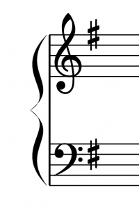 ト長調の調号 1♯ ファ